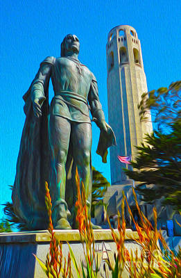 San Francisco - Coit Tower - 02 Art Print by Gregory Dyer