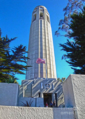 San Francisco - Coit Tower - 03 Art Print by Gregory Dyer