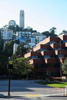 San Francisco Coit Tower At Levis Plaza 5d26188 Art Print