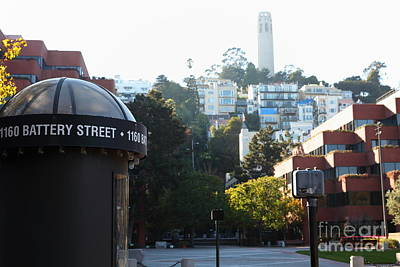 San Francisco Coit Tower At Levis Plaza 5d26212 Art Print by Wingsdomain Art and Photography