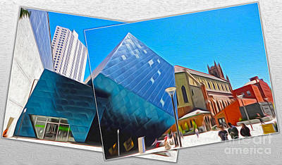 San Francisco - Contemporary Jewish Museum - 01 Art Print by Gregory Dyer