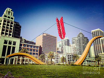 San Francisco Embarcadero Photograph - San Francisco Cupid's Span by Colin and Linda McKie