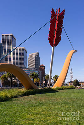 Rincon Photograph - San Francisco Cupids Span Sculpture At Rincon Park On The Embarcadero Dsc1927 by Wingsdomain Art and Photography