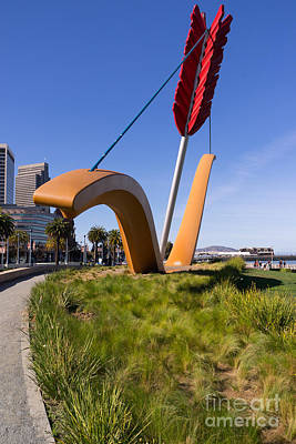 San Francisco Cupids Span Sculpture At Rincon Park On The Embarcadero Dsc1928 Art Print