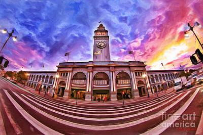 Photograph - San Francisco Ferry Building 732 Am by Blake Richards