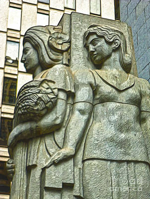 San Francisco - Financial District Statue - 05 Art Print by Gregory Dyer