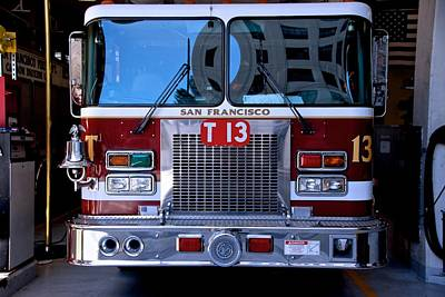 Photograph - San Francisco Fire Engine by Eric Tressler
