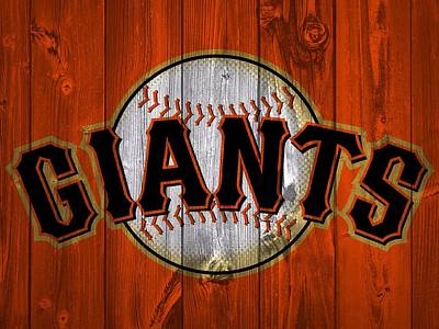 Baseball Royalty-Free and Rights-Managed Images - San Francisco Giants Barn Door by Dan Sproul