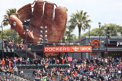 San Francisco Giants Fan Lot Giant Glove 5d28142 Art Print by Wingsdomain Art and Photography