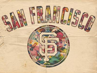 Painting - San Francisco Giants Logo Vintage by Florian Rodarte