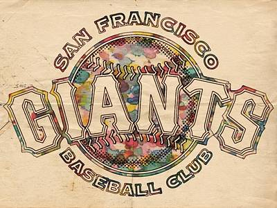 Painting - San Francisco Giants Poster Vintage by Florian Rodarte