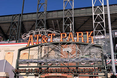 San Francisco Giants World Series Baseball At Att Park Dsc1901 Art Print