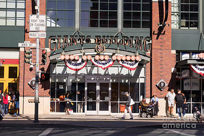 San Francisco Giants World Series Baseball At Att Park Dsc1916 Art Print