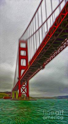 San Francisco - Golden Gate Bridge - 02 Art Print by Gregory Dyer