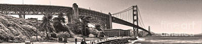 San Francisco - Golden Gate Bridge - 06 Art Print by Gregory Dyer