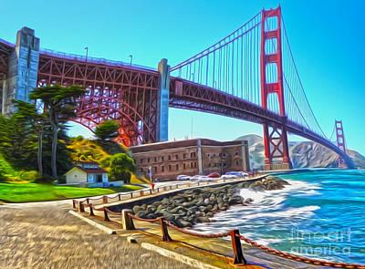 San Francisco - Golden Gate Bridge - 11 Art Print by Gregory Dyer