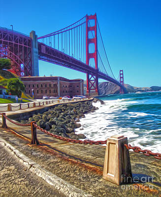 San Francisco - Golden Gate Bridge - 12 Art Print by Gregory Dyer