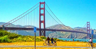 San Francisco - Golden Gate Bridge - 13 Art Print by Gregory Dyer