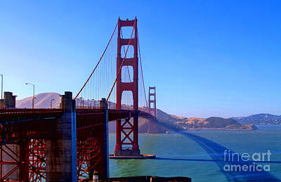 Photograph - San Francisco Golden Gate Bridge By Diana Sainz by Diana Raquel Sainz