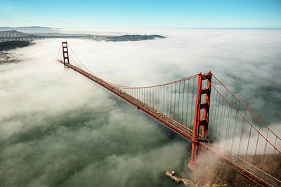 Flying Photograph - San Francisco Golden Gate Bridge by Franckreporter