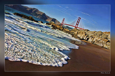 Photograph - San Francisco Golden Gate From Beach by Blake Richards