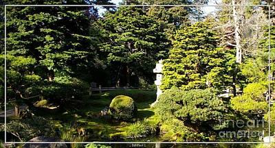 San Francisco Golden Gate Park Japanese Tea Garden 1 Print by Robert Santuci