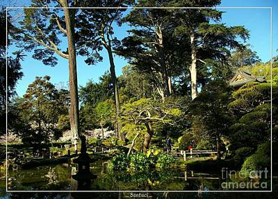 San Francisco Golden Gate Park Japanese Tea Garden 11 Print by Robert Santuci