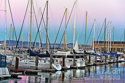 Photograph - San Francisco Harbor At Pier 39 by Artist and Photographer Laura Wrede