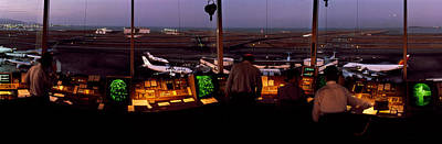 Technology Photograph - San Francisco Intl Airport Control by Panoramic Images