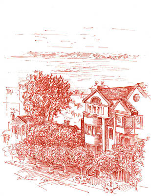 Tower Drawing - San Francisco Leavenworth Street Bay View by Irina Sztukowski