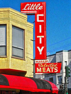 San Francisco - Little City Meats Art Print by Gregory Dyer