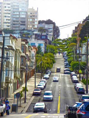 San Francisco - Lombard Street Art Print by Gregory Dyer
