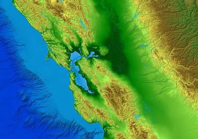Boardroom Digital Art - San Francisco Map Art by Paul Hein