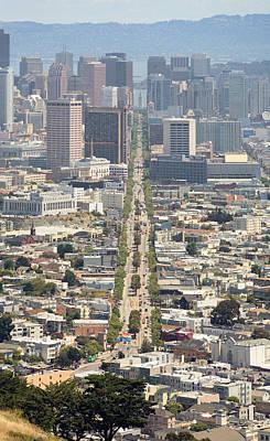 San Francisco - Market Street - Castro To Embarcadero Art Print by Daniel Furon