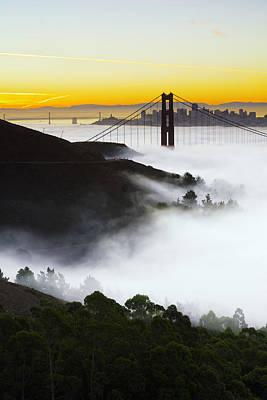 San Francisco Photograph - San Francisco Morning Fog by David Yu