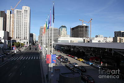 San Francisco Moscone Center And Skyline - 5d20511 Art Print by Wingsdomain Art and Photography