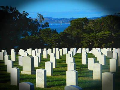 San Francisco National Cemetery In El Presidio Art Print by Emmy Marie Vickers