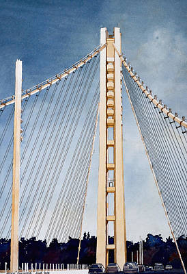 Painting - San Francisco Oakland Bay Bridge Eastern Span by Andre Salvador