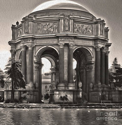 San Francisco - Palace Of Fine Arts - 01 Art Print by Gregory Dyer