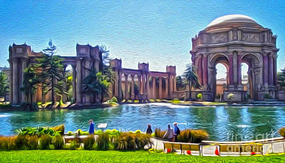 San Francisco - Palace Of Fine Arts - 02 Art Print by Gregory Dyer