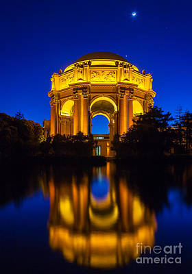 San Francisco Palace Of Fine Arts Art Print by Inge Johnsson