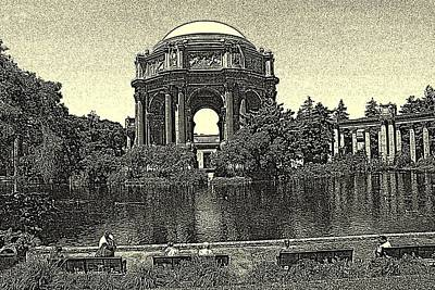 Drawing - San Francisco Palace Of Fine Arts by Peter Potter