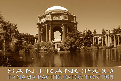 Photograph - San Francisco Poster - Panama Pacific Expo 1915 by Art America Gallery Peter Potter