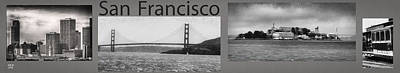 Famous Photograph - San Francisco Panorama Art by David Millenheft