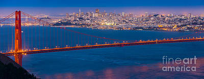 Bay Bridge Photograph - San Francisco Panorama by Inge Johnsson