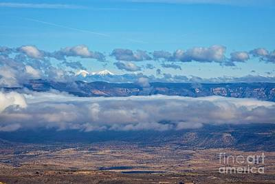 Photograph - San Francisco Peaks by Ron Chilston