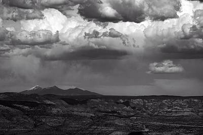 Photograph - San Francisco Peaks Snow Rain And Clouds by Ron Chilston