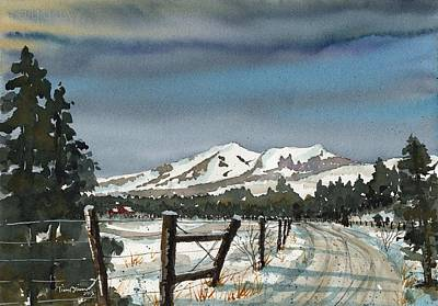 Flagstaff Wall Art - Painting - San Francisco Peaks by Tim Oliver