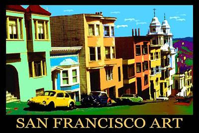 San Francisco Painting - San Francisco Pop Art Poster by Art America Gallery Peter Potter