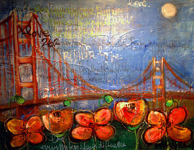 Painting - San Francisco Poppies For Lls by Laurie Maves ART